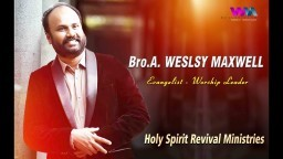 Wesley Maxwell - Special Praise and Worship | RSAG Church | Tamil Christian Songs