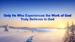 "What Is Faith in God | God's Word ""Only He Who Experiences the Work of God Truly Believes in God"""