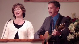 Some good ol' singing! (Evangelist Buddy Blunkall and Mrs Blunkall)