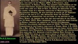 Malyalam Christian Sermon : Return of Jesus by Late.Pr.K E Abraham