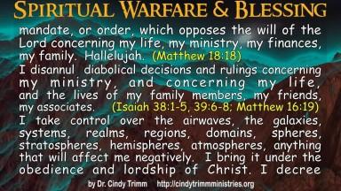 Spiritual Warfare and Blessing