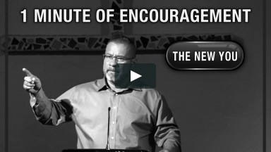 1 MINUTE OF ENCOURAGMENT (from the message in Romans 8:18-25)