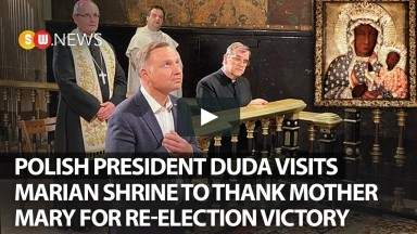Polish President Duda Visits Marian shrine to thank Mother Mary for re-election victory |SW News|136