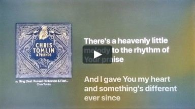 Sing - Chris Tomlin, Lyric Video