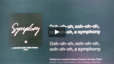 SYMPHONY (FEAT. DILLON CHASE) BY SWITCH at cconlinechurch.com Lyric Videos