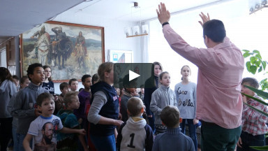 Children Singing Bible Songs at Ukrainian Orphanage