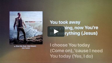 GIVE ME (FEAT. MALI MUSIC) BY KIRK FRANKLIN at cconlinechurch.com Lyric Karaoke Videos