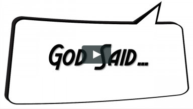 God Said... Worship Service From Sunday, December 27, 2020