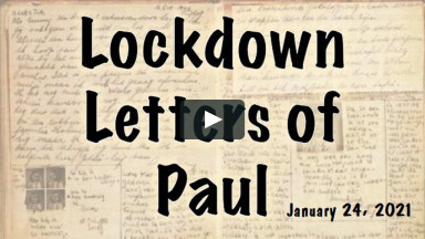Lockdown Letteres - Jan 24 2021
