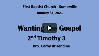 210131 - Wanting the Gospel