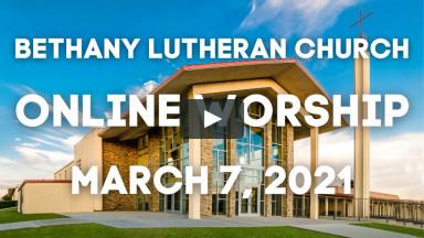 Online Worship March 7