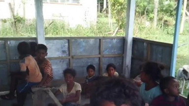 Sunday school with Aeta children