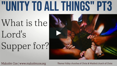 """""""Unity to all things"""" 