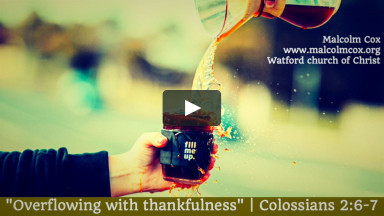 """""""Overflowing with thankfulness"""" 