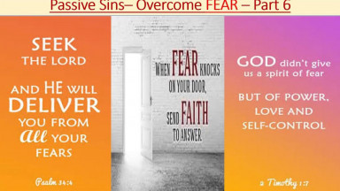 """PASSIVE SINS -  """"WORDLY FEAR"""""""