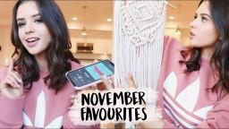 NOVEMBER FAVORITES! Home Decor, Makeup, Music More | Jess Conte